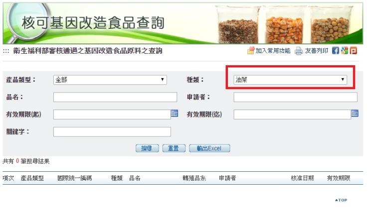 核准基改食品原料查詢五之三