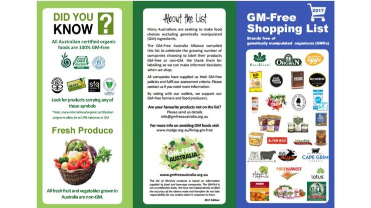 gmo-free shopping list